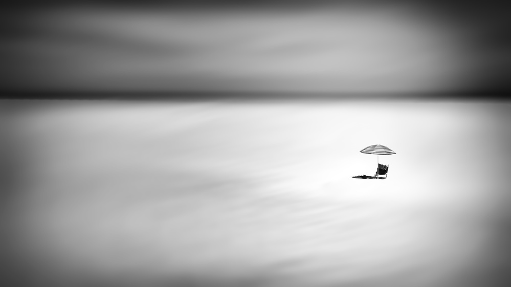 A piece of fine art art photography titled Alone Under the Sun by Ina Tänzer