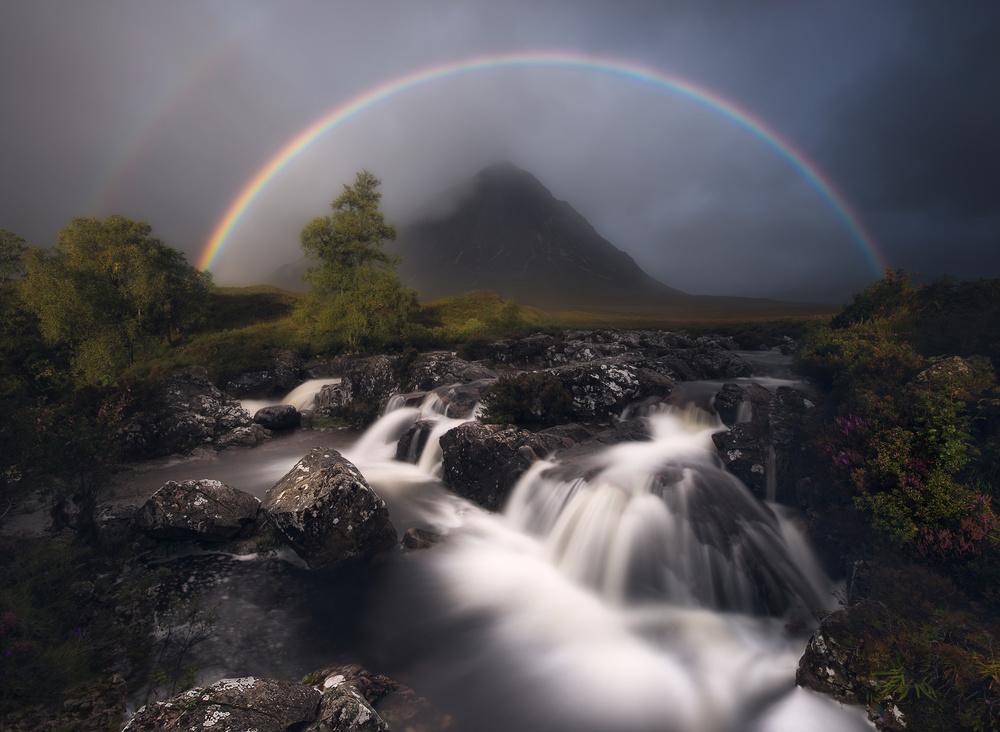 A piece of fine art art photography titled Etive Rainbow by Antonio Prado Pérez