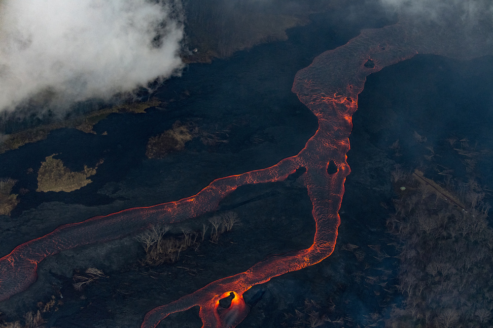 A piece of fine art art photography titled Lava Flow 3 by Bjoern Alicke