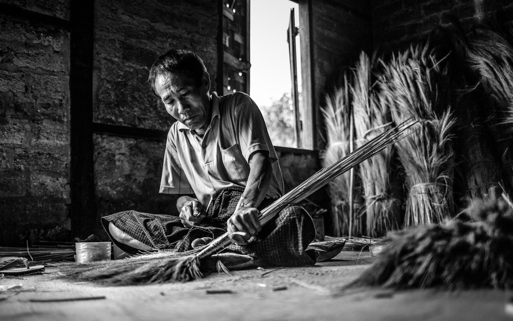 A piece of fine art art photography titled The Brooms Maker by Marco Tagliarino
