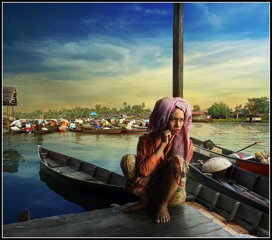 A piece of fine art art photography titled Our Fate ( In Lokbaintan ) by Randy Rakhmadany