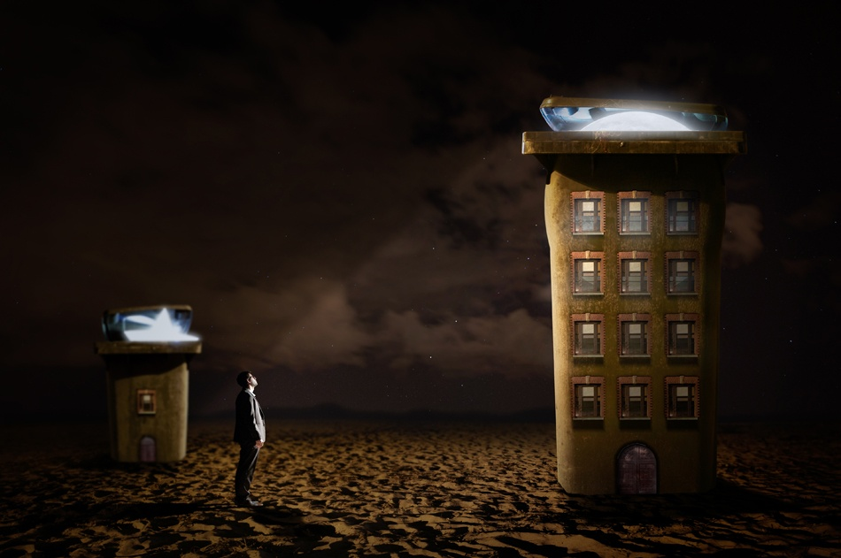 A piece of fine art art photography titled Moon Palace by Baptiste Llobell