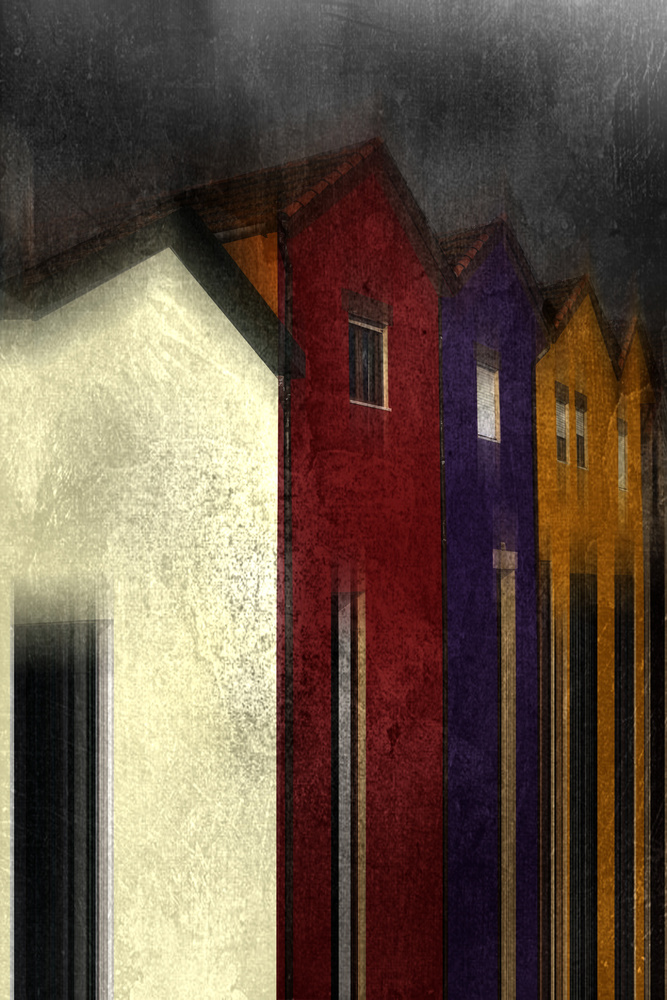 A piece of fine art art photography titled Fishermen Houses by ANTONIO SORIANO LLAMAZARES