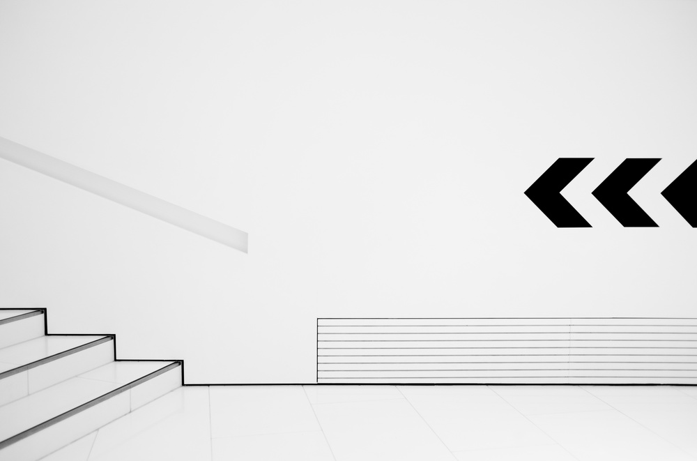 A piece of fine art art photography titled Lines and Signs by Hans Martin Doelz