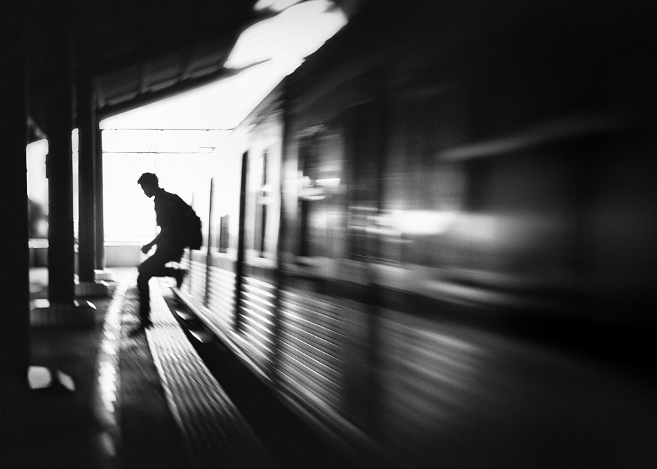A piece of fine art art photography titled @the Station: Rush Arrival by Sebastian Kisworo