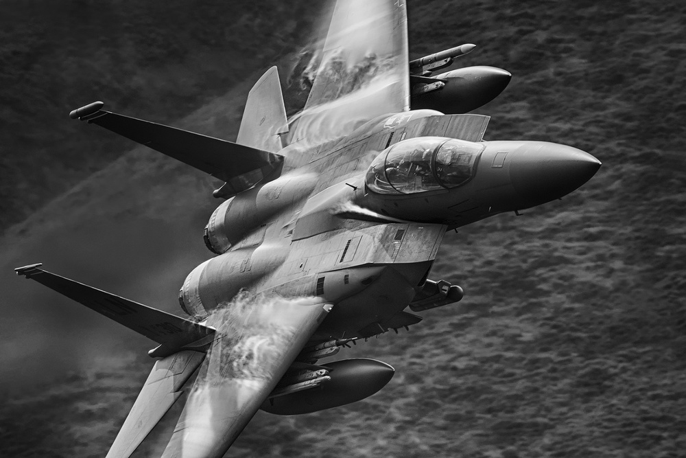 A piece of fine art art photography titled Strike Eagle by Michal Marzec
