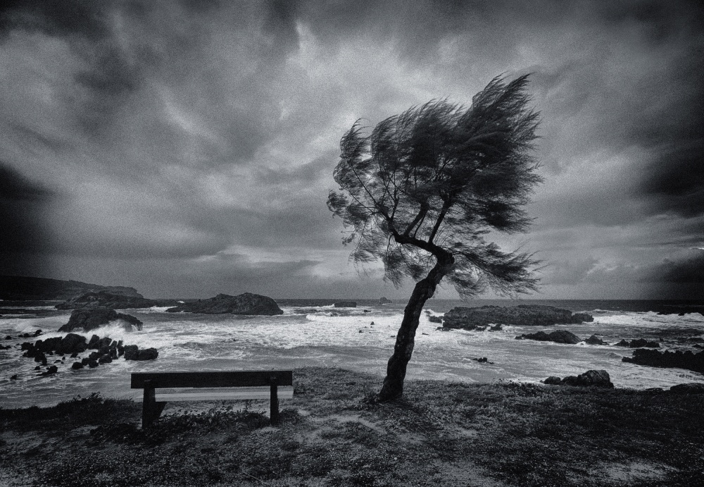 A piece of fine art art photography titled Today No One by Mikel Lastra