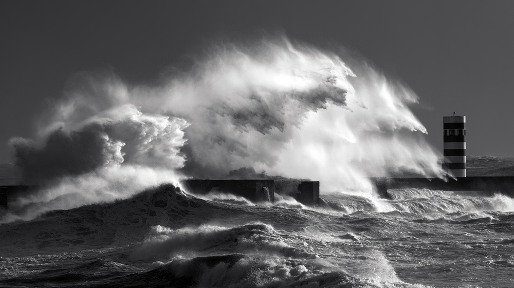 A piece of fine art art photography titled Big Waves by Nuno Milheiro