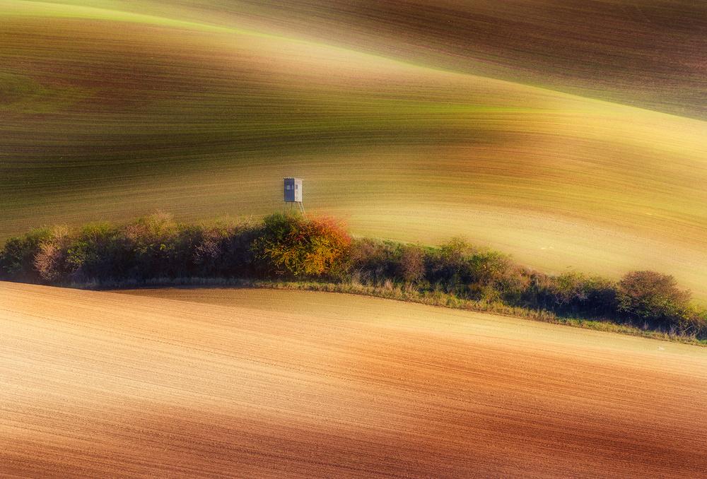 A piece of fine art art photography titled Wavy Fields by Piotr Krol (Bax)