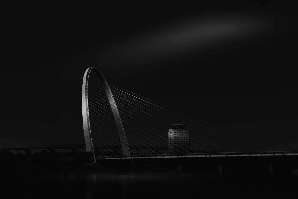 View this piece of fine art photography titled Zhicheng Road Steel Cable Bridge by zhaoqi