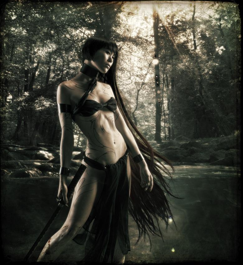 A piece of fine art art photography titled Penthesilea by felipmars