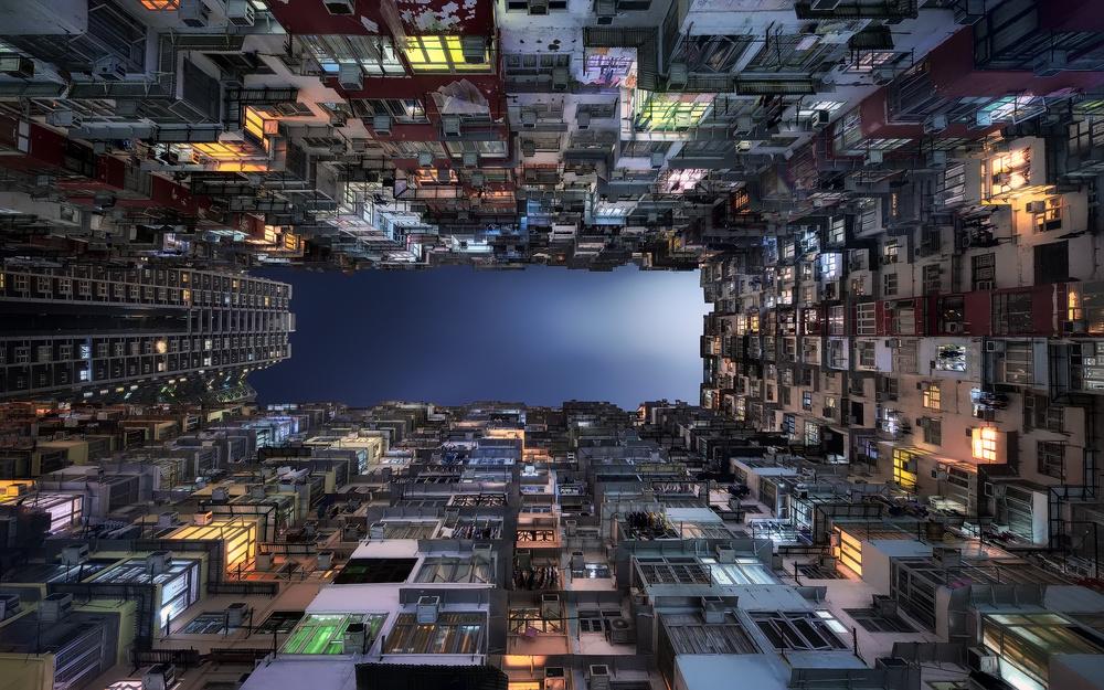 A piece of fine art art photography titled Beehive Buildings by Jesús M. García
