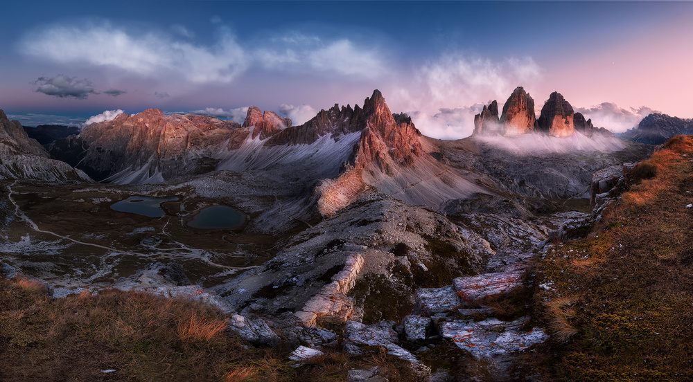 A piece of fine art art photography titled Tour Di Lavaredo by Peter Futo