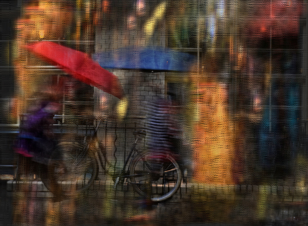 A piece of fine art art photography titled Rain Can Be Beautiful by Anette Ohlendorf