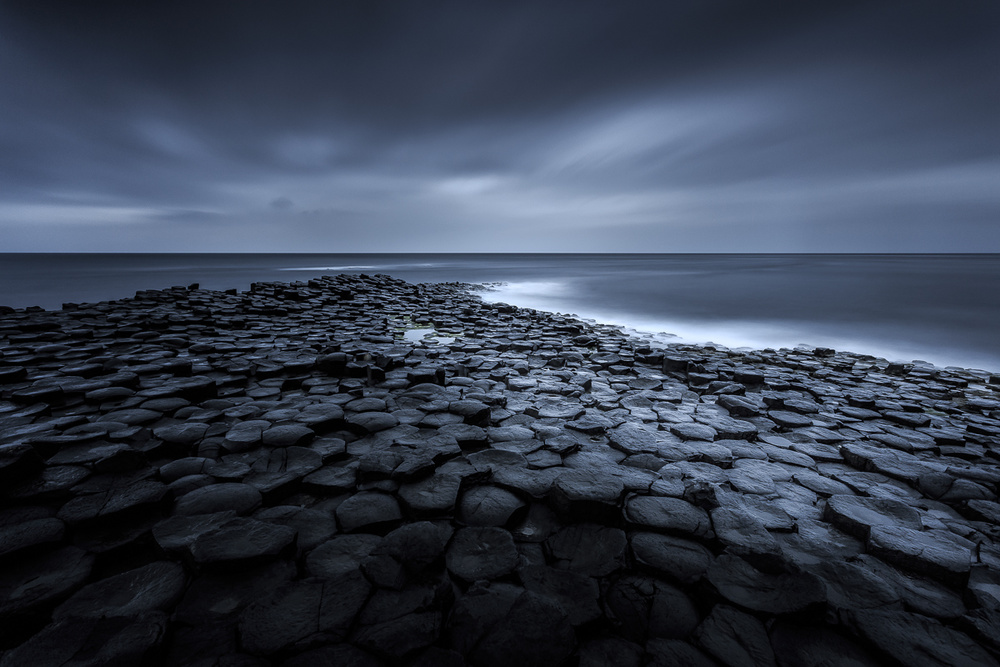 A piece of fine art art photography titled Giant's Causeway by Ryszard Lomnicki