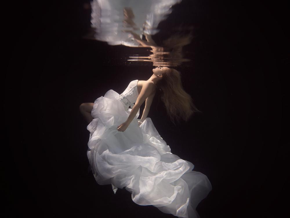 A piece of fine art art photography titled The Bride by Gabriela Slegrova