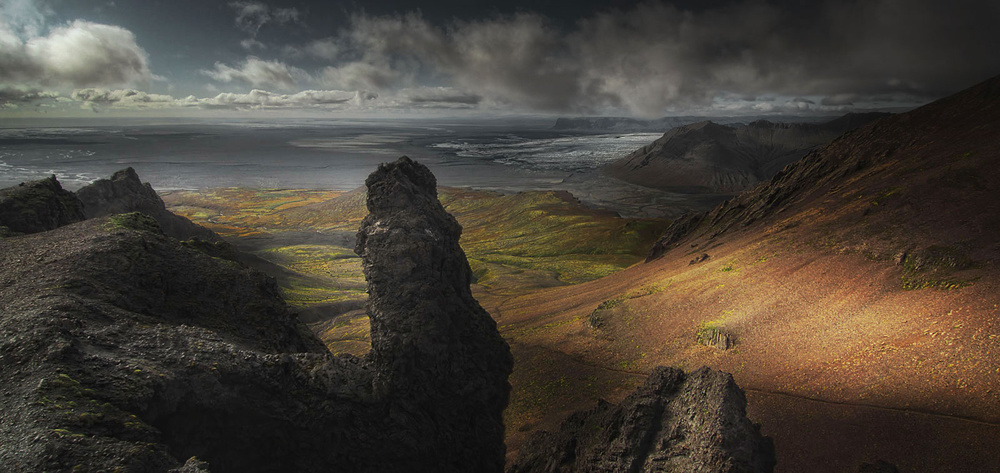 A piece of fine art art photography titled Iceland by Amador Funes