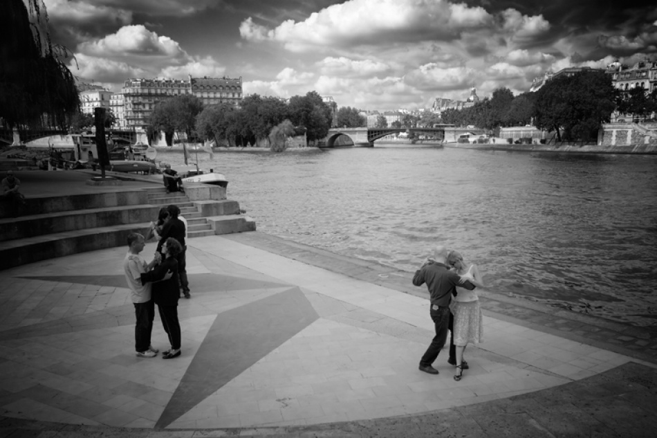 A piece of fine art art photography titled Last Tango In Paris by Claude Bour