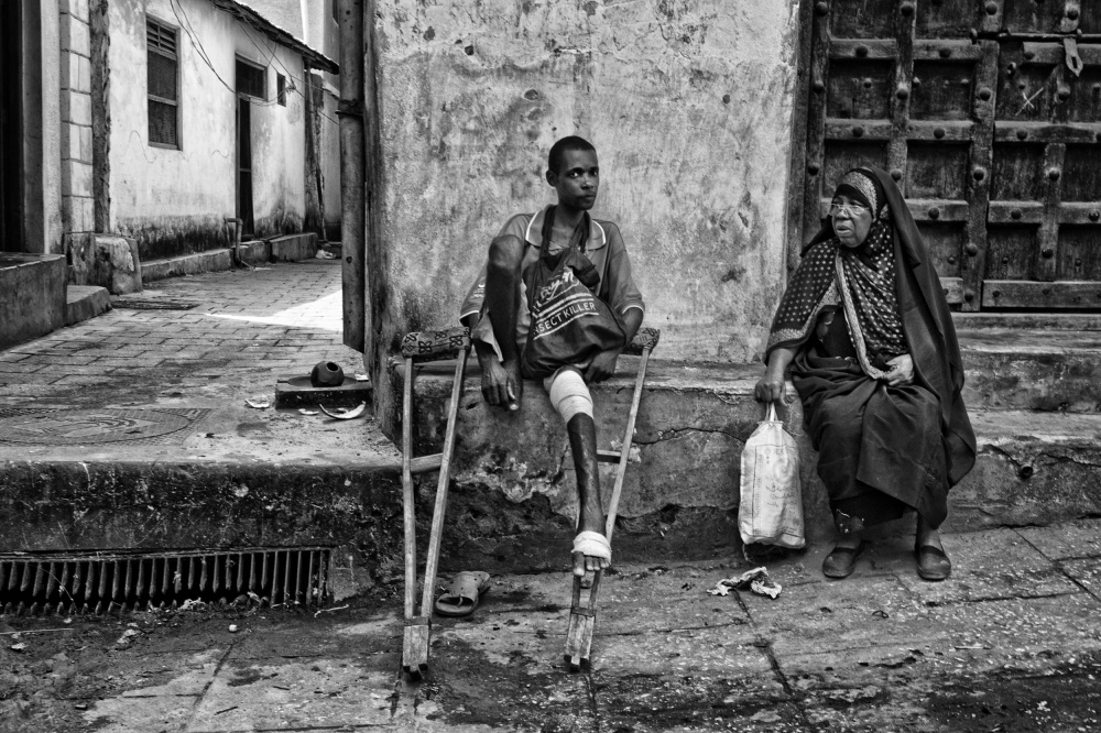 A piece of fine art art photography titled In the Streets of Zanzibar by Joxe Inazio Kuesta Garmendia