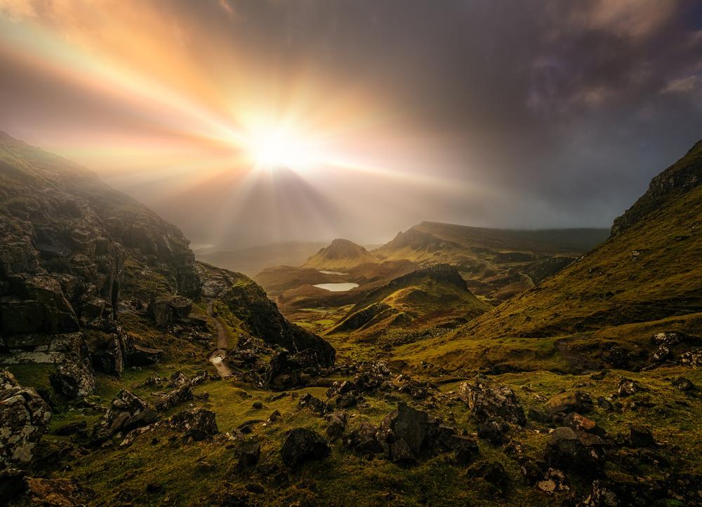 A piece of fine art art photography titled Trotternish Ridge Light #3 by Matt Anderson
