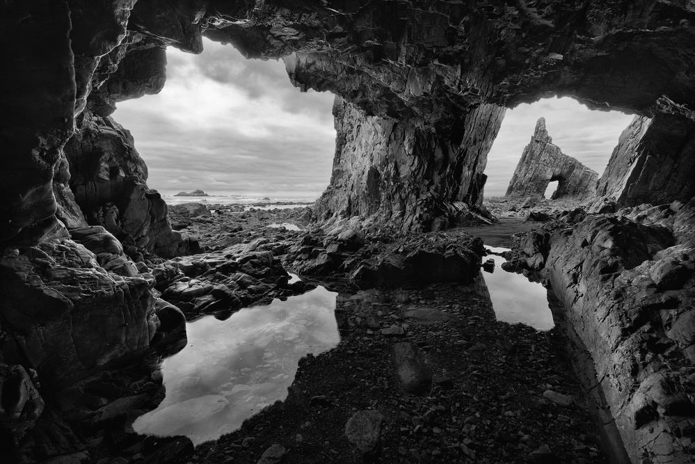 A piece of fine art art photography titled Into the Cave by Roberto Graña