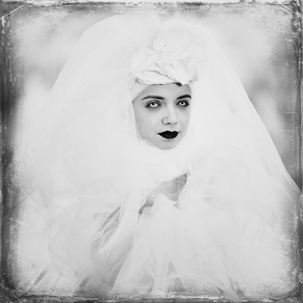 A piece of fine art art photography titled White Eyes by alexandra fira