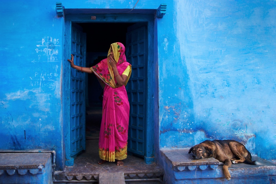 A piece of fine art art photography titled Street Colours Rajasthan by Mitchell Kanashkevich