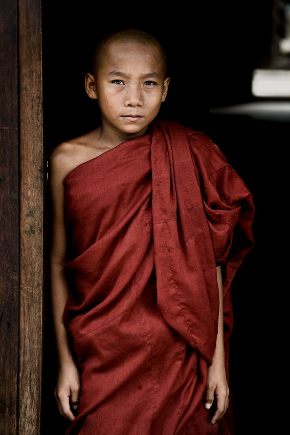 A piece of fine art art photography titled Novice In Burma by Carlos Cass
