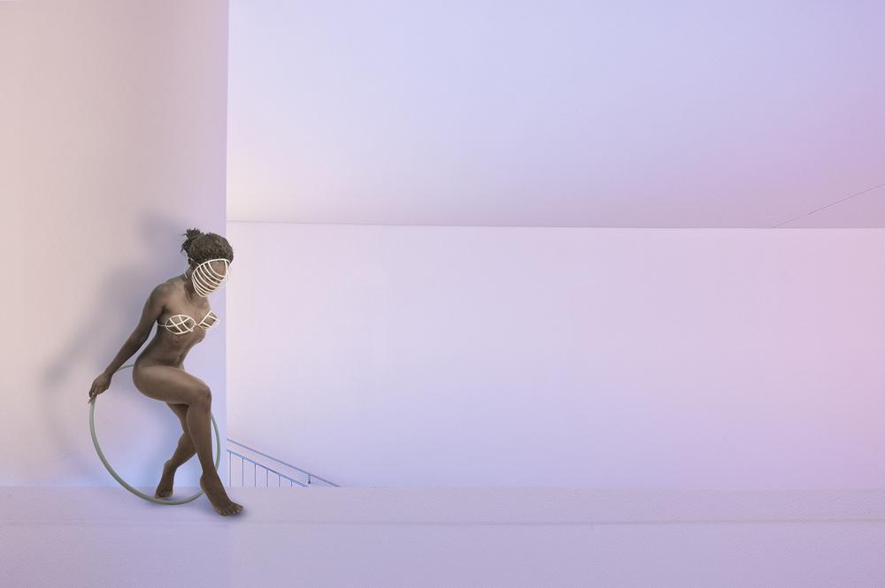 A piece of fine art art photography titled Hoola Hoop by Christine von Diepenbroek