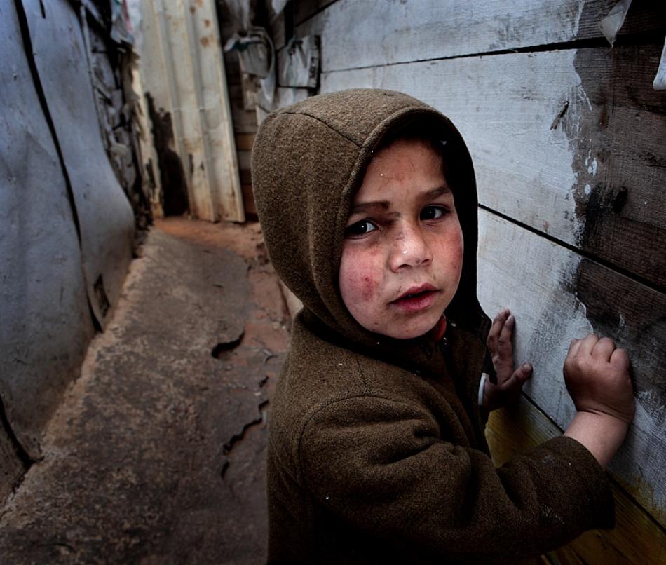 A piece of fine art art photography titled Boys from Slum by jose ferreira