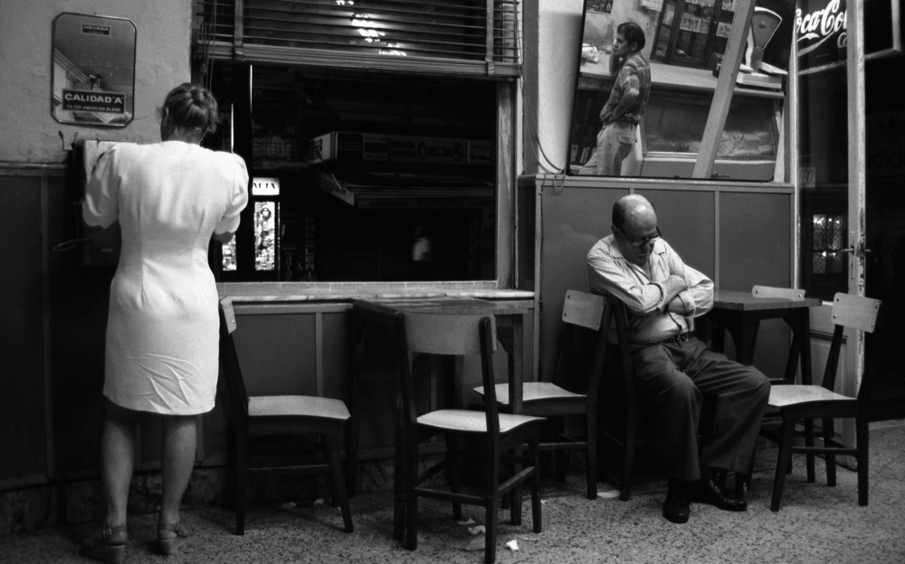 A piece of fine art art photography titled Nightlife (from the Series Boy Meets Girl and Montevideo) by Dieter Matthes