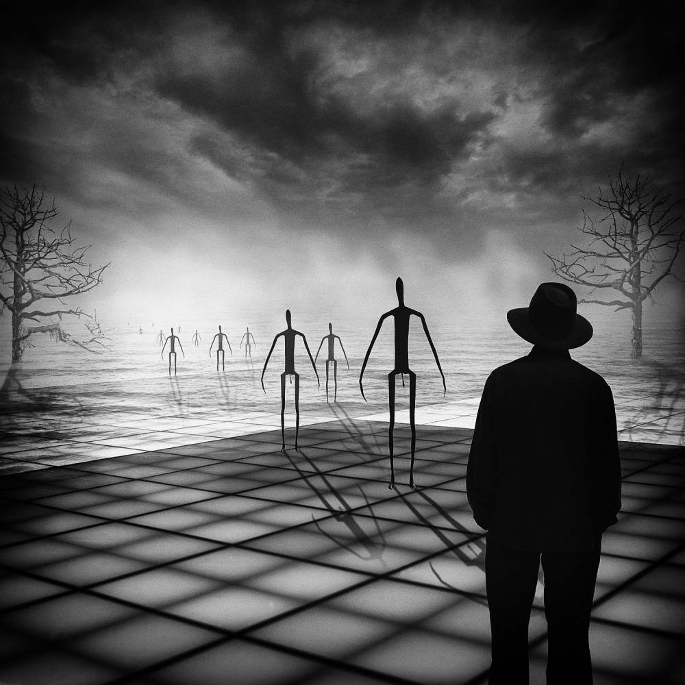 A piece of fine art art photography titled Of Matchstick Men and You by Adrian Donoghue