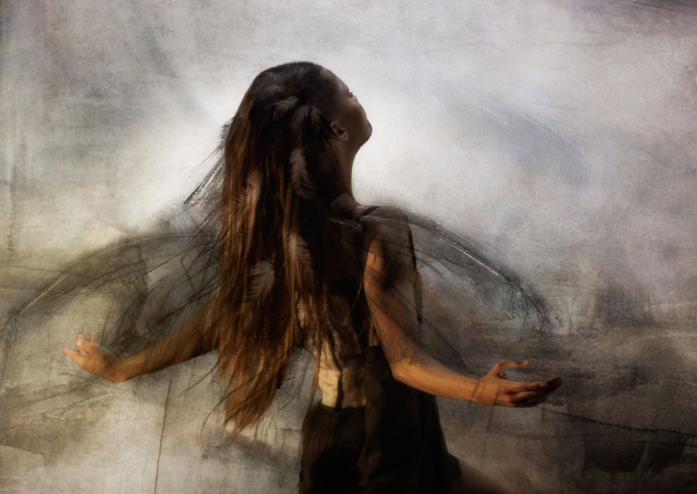 A piece of fine art art photography titled And Maybe One Day I Will Free Her' by Charlaine Gerber