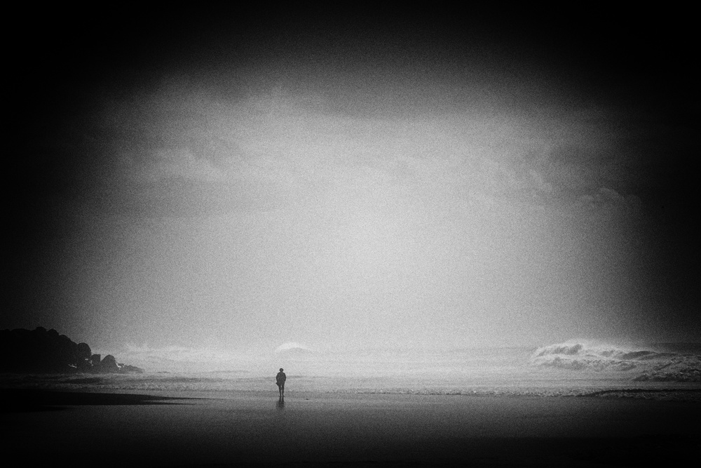A piece of fine art art photography titled You've Just Now Gone by Cecy Jup