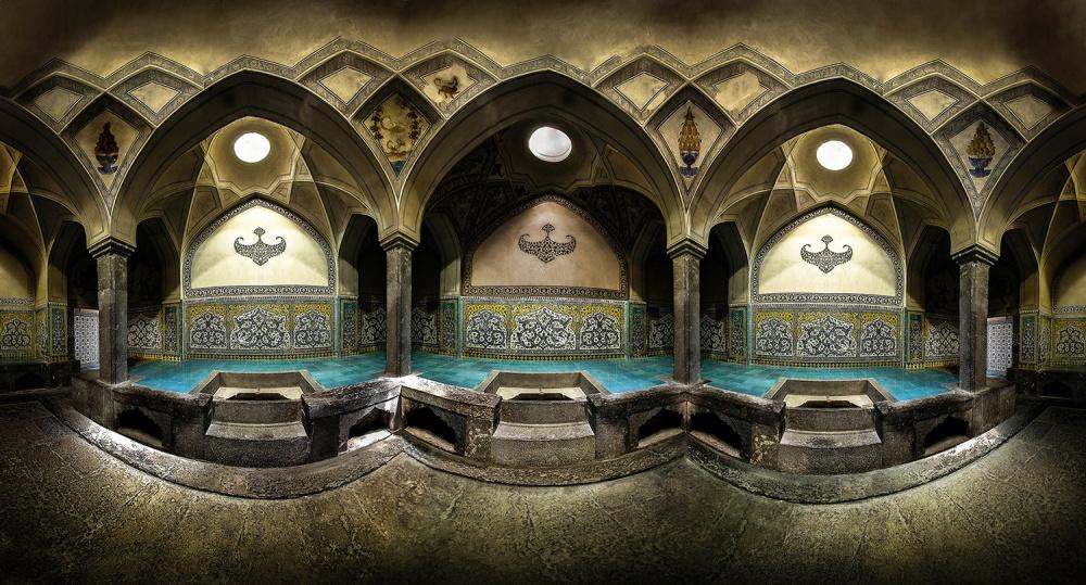 A piece of fine art art photography titled Aligholi Agha Bathhouse 2 by seyed ali miremadi