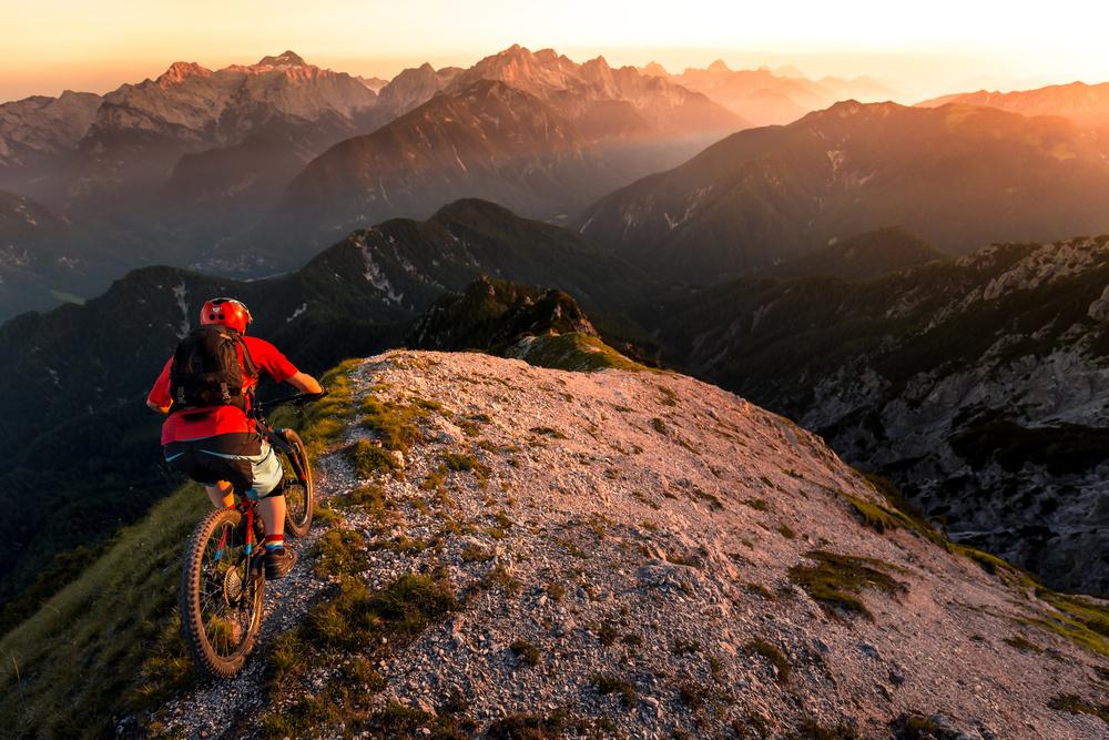 A piece of fine art art photography titled Riding Ridge Singletrack by Sandi Bertoncelj