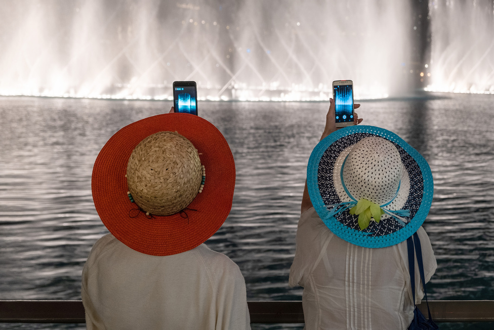 A piece of fine art art photography titled Take Pictures Together by Rolf Endermann