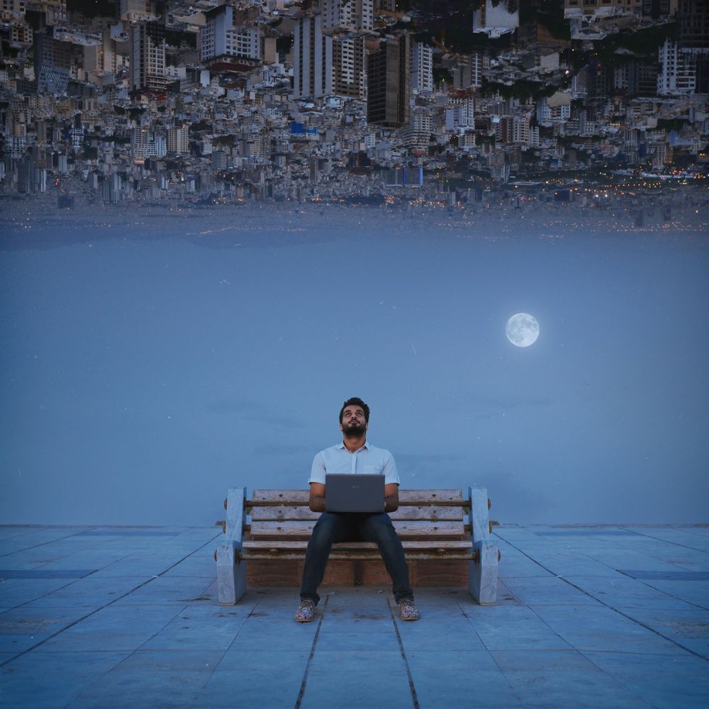 A piece of fine art art photography titled Waiting by Hossein Zare