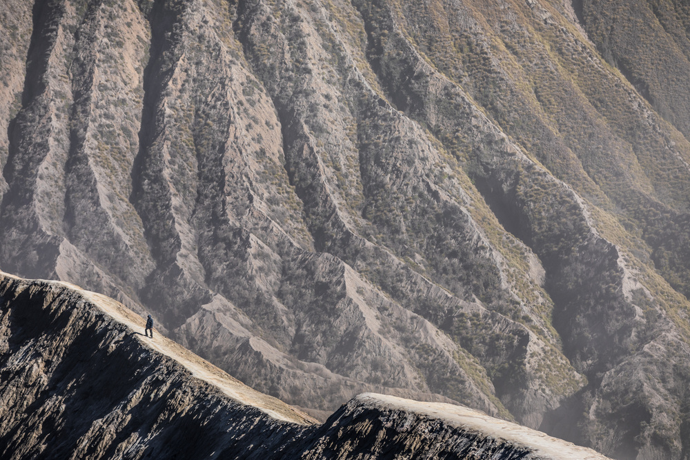 A piece of fine art art photography titled Alone In the Rim by Marco Tagliarino