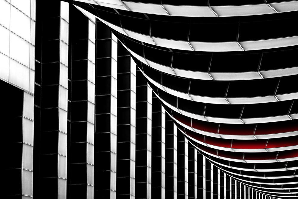 A piece of fine art art photography titled Lines II by Erhard Batzdorf