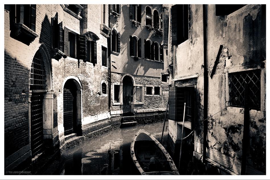 A piece of fine art art photography titled Back Street by Tim Johnstone