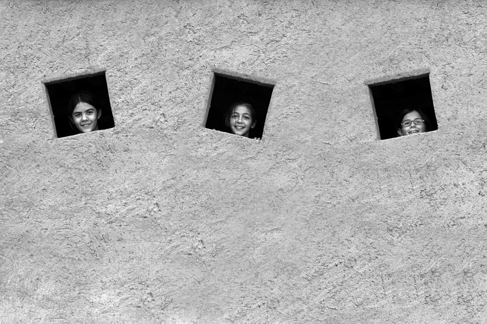 A piece of fine art art photography titled Olívia, Marina and Valentina by Gloria Salgado Gispert