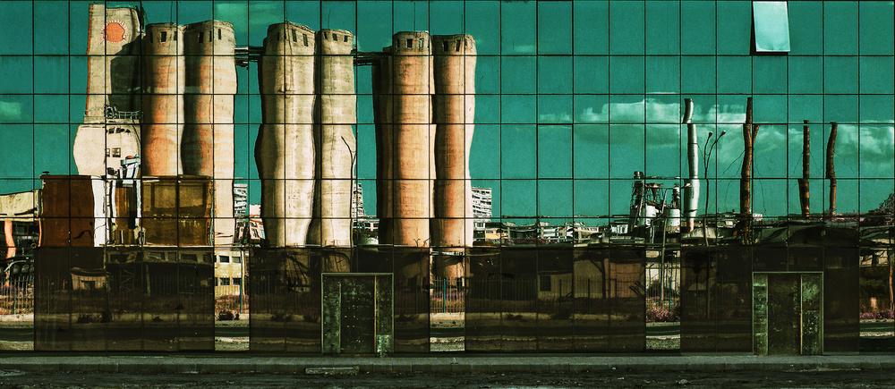 A piece of fine art art photography titled Glass Graffiti by Zhecho Planinski