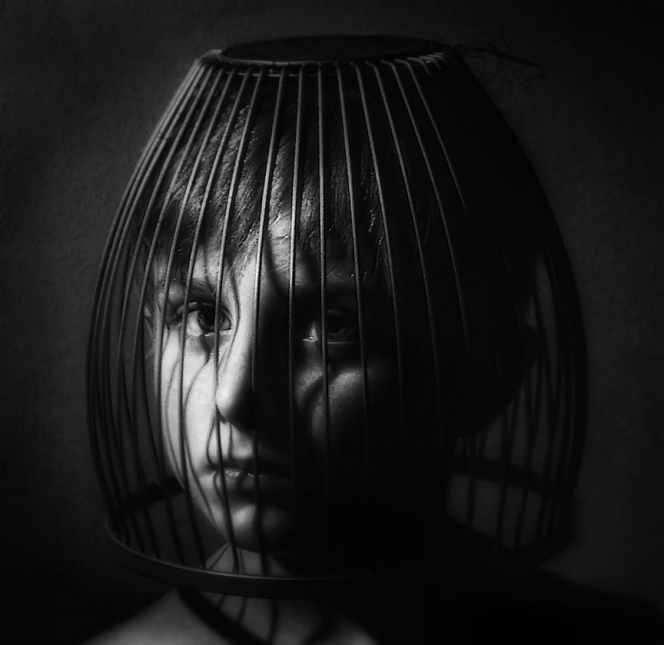 A piece of fine art art photography titled Caged Child by aleci