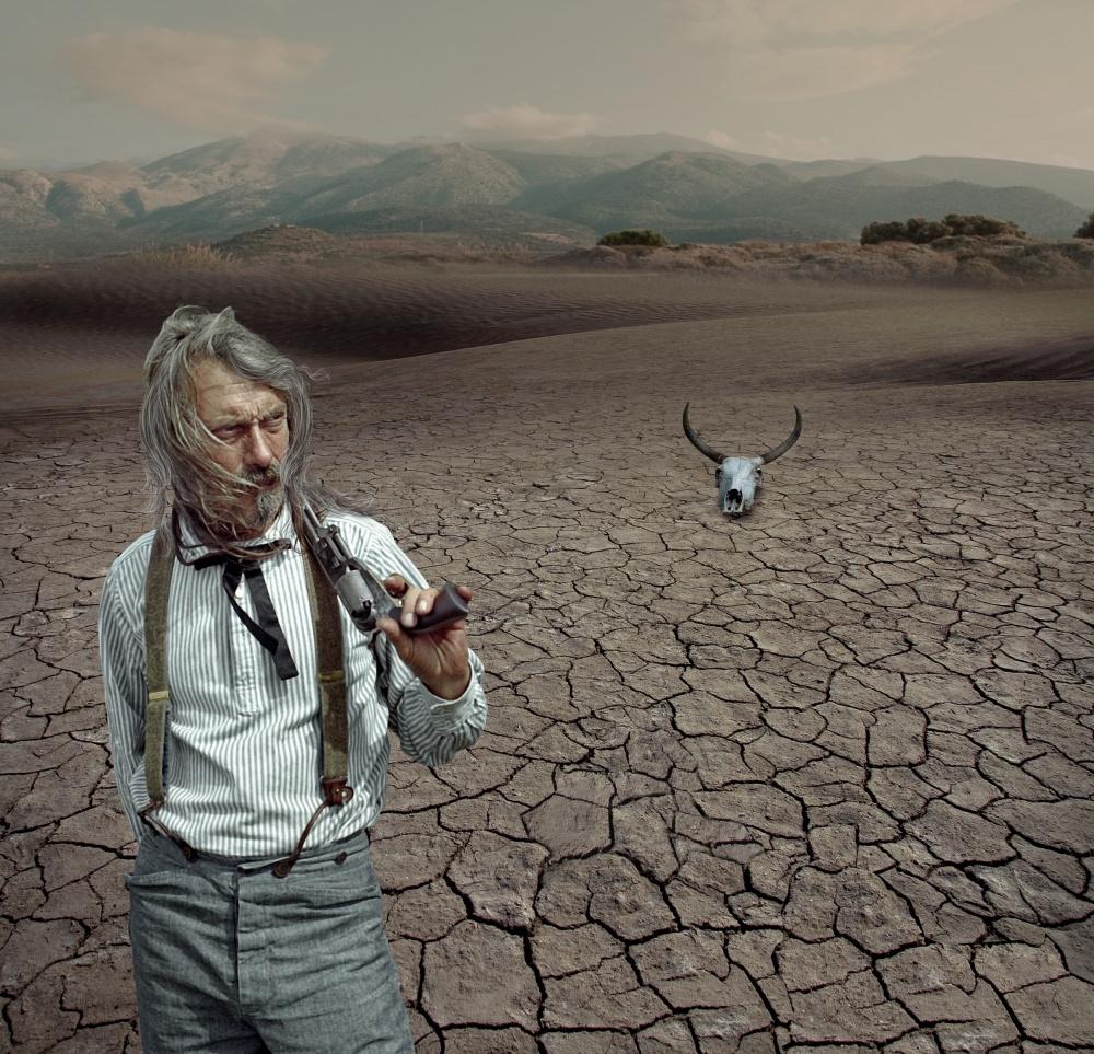 A piece of fine art art photography titled High Plains Drifter by Baden Bowen