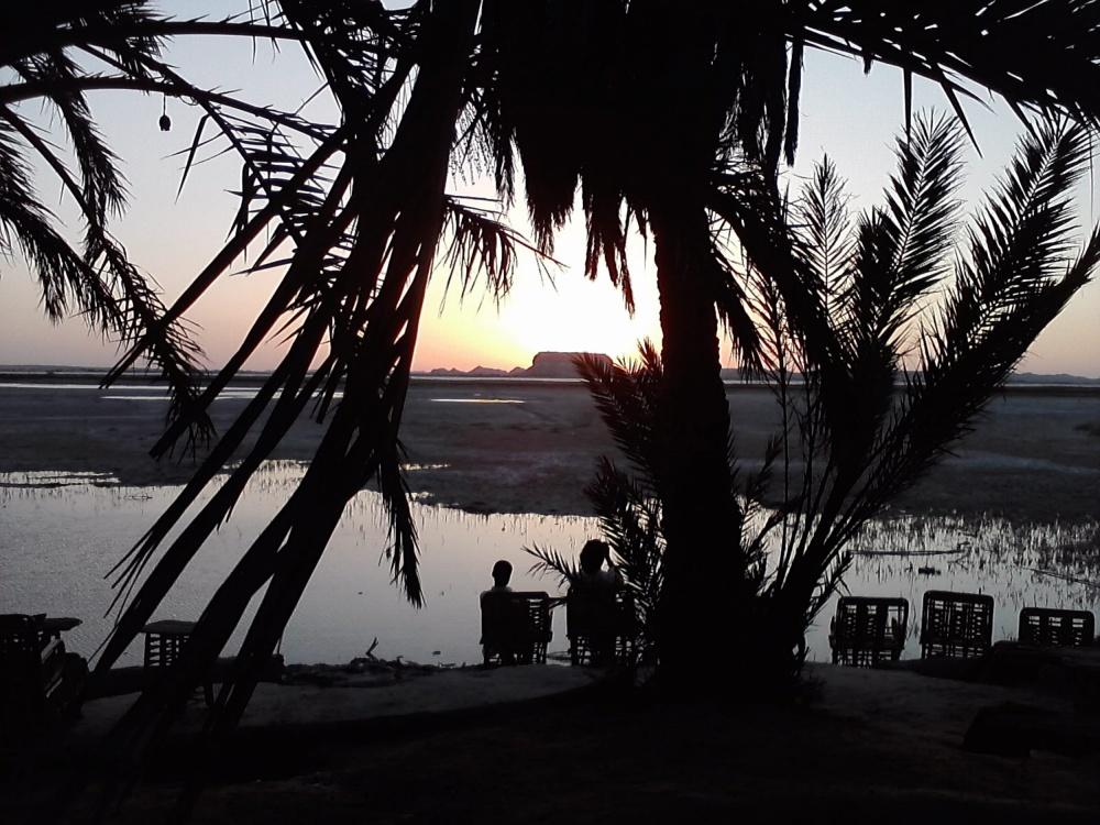 Fatnas, salt lake, Siwa Oasis, Egypt