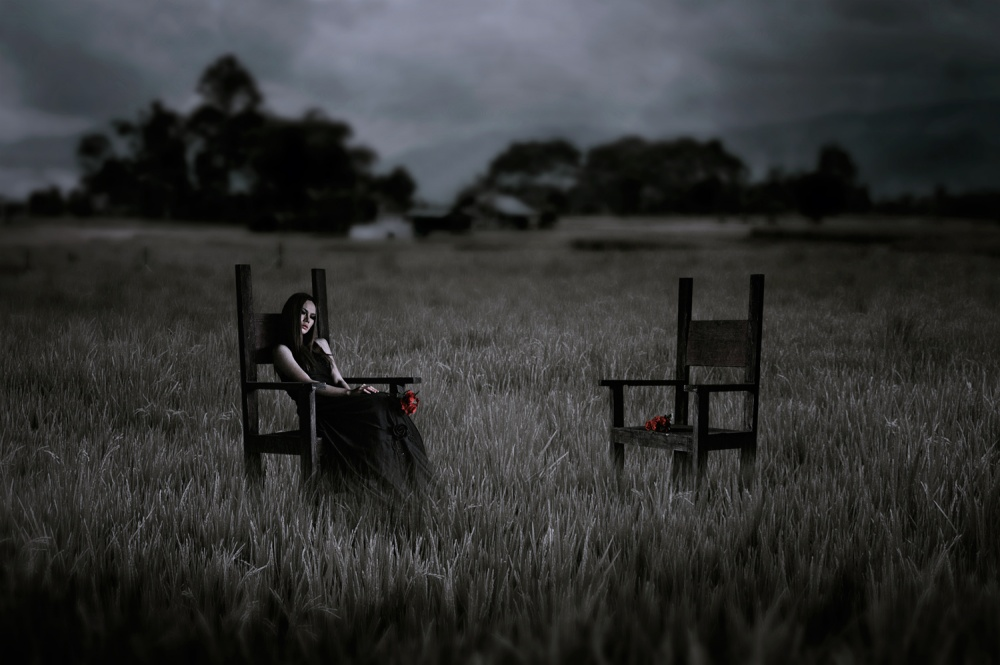 A piece of fine art art photography titled Lonely Rose by Joey Bangun