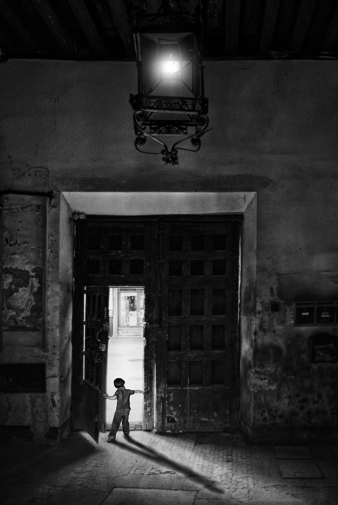 A piece of fine art art photography titled The Little Doorman by Jose C. Lobato