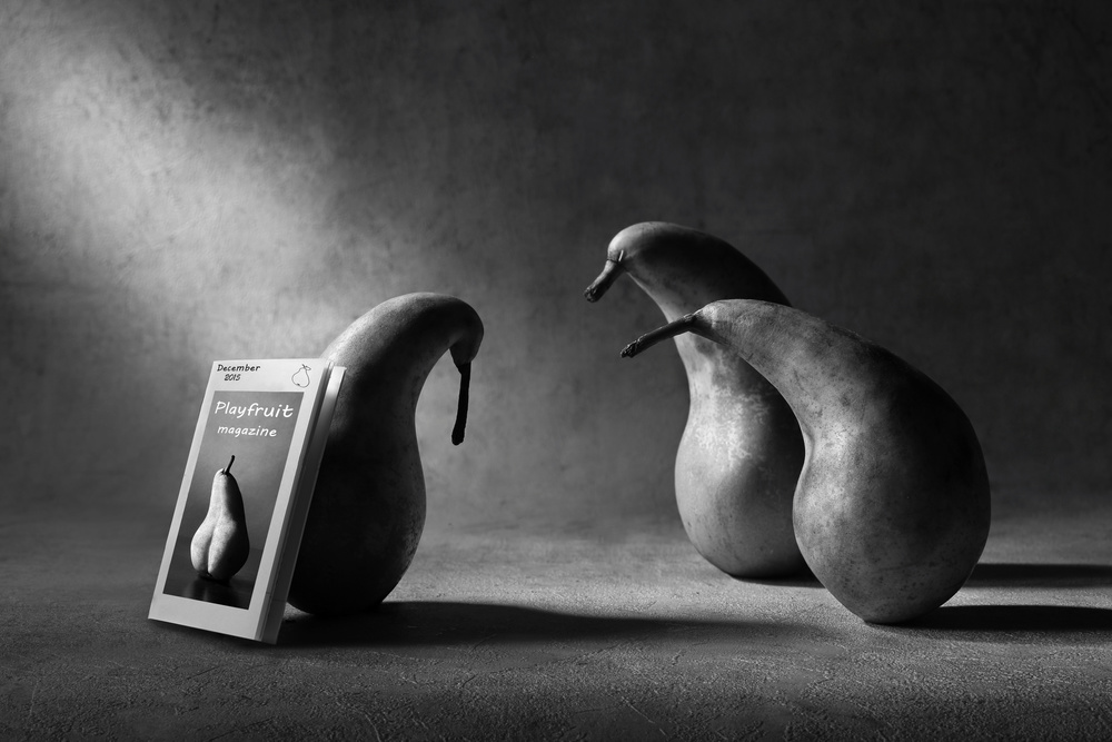 A piece of fine art art photography titled What Are You Reading, Son?! by Victoria Ivanova