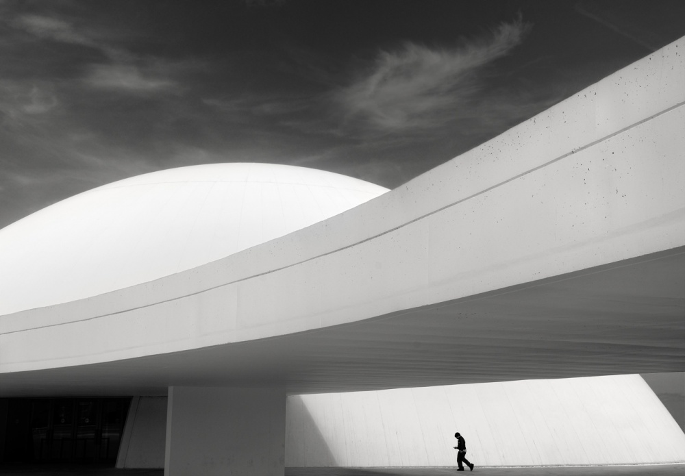 A piece of fine art art photography titled Niemeyer Center Aviles by Ramon Vaquero